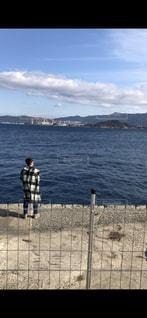 海,屋外,青空,青,旅行,釣り,父,長崎,お父さん,魚釣り,伊王島,チェックコート