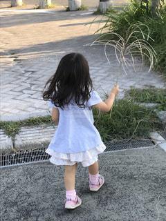 屋外,散歩,子供,幼児