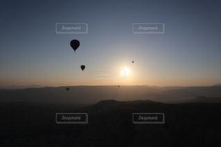 朝日,気球,トルコ,カッパドキア,cappadocia,朝日が昇る,Turco