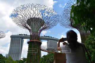 シンガポールの名所をパチリの写真・画像素材[2276398]