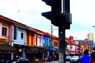 カラフルな壁の街の写真・画像素材[2371424]