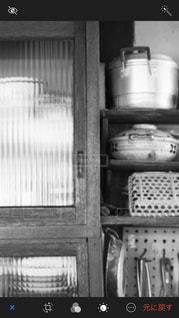 モノクロ,室内,棚,鍋,台所,フィルム,食器棚,フィルム写真,フィルムフォト