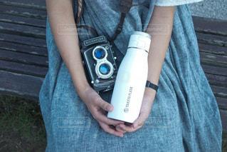 屋外,白,ベンチ,おでかけ,フィルムカメラ,アンバサダー,水筒,タケヤ,タケヤフラスク,タケヤフラスクトラベラー