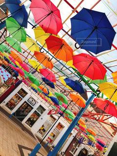 傘,水,アート,雫,カラー,雨の日,カラフル傘