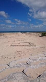 空,LOVE,ビーチ,砂浜,沖縄,ハート