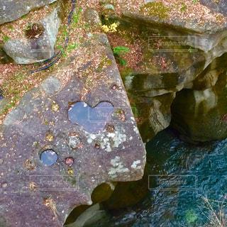 自然,水,川,ハート,ハートマーク,石