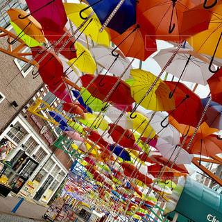 風景,傘,屋外,カラフル,レインボー,鮮やか,デート,通り