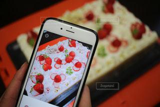 携帯電話のクローズアップの写真・画像素材[2284193]