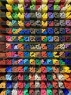 色鉛筆はとってもカラフルの写真・画像素材[2277376]