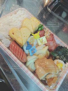 食べ物,お弁当,卵焼き,ハート,チーズ,肉,料理,手作り,マーク,トレイ,プラスチック,お出かけ用