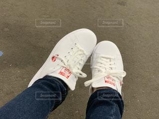 靴,赤,白,ハート,人,スニーカー,マーク,おニュー