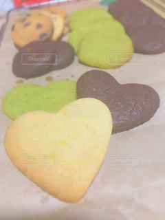 食べ物,抹茶,プレゼント,ハート,クッキー,クッキング,チョコ,手作り,マーク,プレーン,チョコチップ,好きな人へ,配置