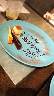 デザート,テーブル,皿,ハート,サプライズ,マーク,感謝