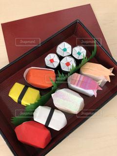 折り紙寿司の写真・画像素材[3379819]