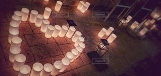 夜,屋外,アート,光,ろうそく,ハート,キャンドル,七夕,結婚式場,マーク,キャンドルナイト,ロウソク,式場
