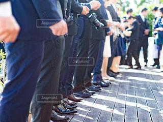 結婚式に連列している男性陣の写真・画像素材[3025127]