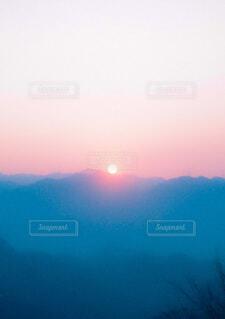 自然,風景,空,屋外,朝日,霧,山,朝焼け,正月,お正月,日の出,フィルム,新年,初日の出,フィルムカメラ,フィルム写真