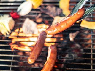 バーベキューでグリル焼きしているジョンソンヴィルの写真・画像素材[4413430]