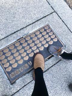 靴,屋外,足元,足,茶色,ハート,縁結び,マーク