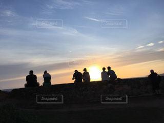 空,カップル,太陽,光,夕陽,スリランカ,ゴール