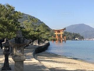 空,青空,散歩,野外,宮島,厳島神社,お散歩,おでかけ