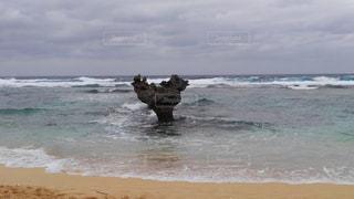 ビーチ,夕暮れ,水面,沖縄,ハート,那覇,日の出