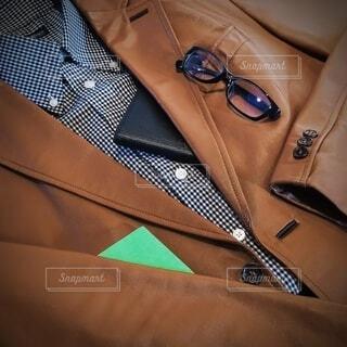秋のメンズファッションイメージの写真・画像素材[4791414]