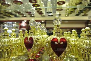 屋内,ハート,香水,キラキラ,旅行,シンガポール,装飾,金,ゴールド,飾り,マーク,小瓶