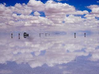 ウユニ塩湖の写真・画像素材[2433466]