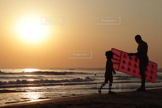 空,夕日,太陽,親子,夕焼け,オレンジ,夕陽,フィルム,フィルム写真,フィルムフォト