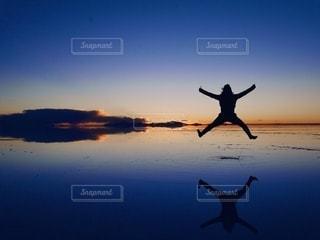 ウユニ塩湖の写真・画像素材[2648672]