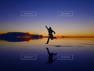 ウユニ塩湖の写真・画像素材[2648677]