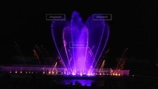 夜,綺麗,幻想的,暗い,水面,ハート,噴水,明るい,御殿場