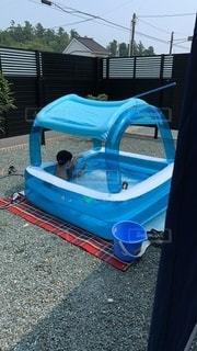プールで遊ぶ子どもの写真・画像素材[3608684]