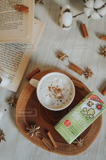 調製豆乳ソイラテの写真・画像素材[3792301]