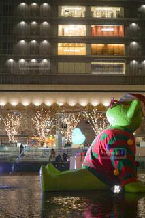 風景,屋外,大阪,水面,樹木,イルミネーション,ライトアップ,キラキラ,クリスマス,梅田,装飾,明るい,デート,グランフロント,おでかけ,草木,フォトジェニック,グランフロント大阪,写真映え,シャンパンゴールド