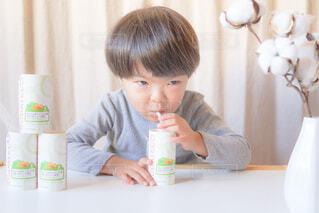 お気に入り野菜ジュースの写真・画像素材[3949655]