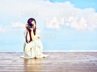 空,カメラ,自撮り,絶景,湖,雲,綺麗,セルフィー,一眼レフ,滋賀,琵琶湖,カメラレンズ,琵琶湖バレイ
