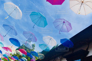 空,傘,青空,散歩,好きな風景