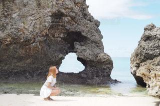 風景,ビーチ,砂浜,沖縄,ハート,岩,宮古島,マーク,フォトジェニック,ハート岩,インスタ映え