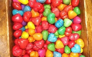 ピンク,カラフル,黄色,鮮やか,オレンジ,ハート,可愛い,ブルー,石,グリーン,赤色,カラー,青色