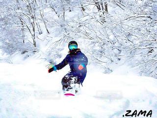 雪との戯れの写真・画像素材[2278125]