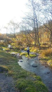 自然,風景,屋外,散歩,川,山,女,人,清流