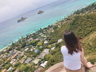ハワイのビーチを1人じめの写真・画像素材[2821249]