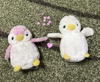 ピンク,アート,ペンギン,仲良し,星,ハート,ぬいぐるみ,ラブラブ,イエロー,パステルカラー,スター
