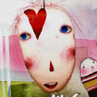 花,アート,女の子,ハート,絵画,手書き,art,落書き,不気味,水彩画,怪物,油絵,オリジナルキャラクター