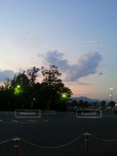 風景,空,屋外,雲,夕焼け,夕方,ハート,可愛い,放課後,マーク