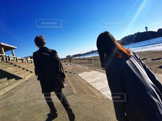 海,空,晴天,散歩,海岸,江ノ島,レジャー,湘南,ライフスタイル,お出かけ