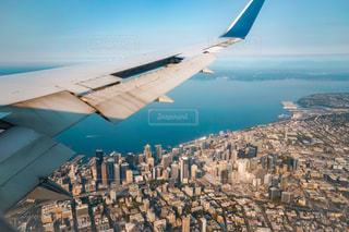 シアトルの海を空撮の写真・画像素材[2329677]