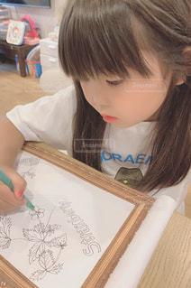 植物,イラスト,少女,ペン,人,色鉛筆,手書き,紙,おえかき,おうち時間